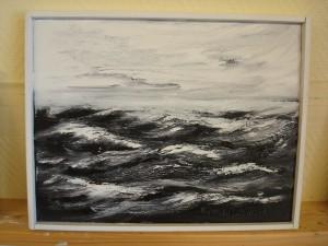 """Höststorm Bottenhavet"""" Höststorm över Bottenhavet """" Totalmått med ram 37 x 29 cm  Pris: 800:- SEK"""